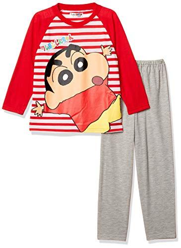 [クレヨンしんちゃん] クレヨンしんちゃん キッズ パジャマ (長袖+パンツ) 66027FH レッド 日本 120 (日本サイズ120 相当)