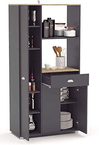 Armarios, cajones Aparador 3 1 cocina trastero auxiliar de muebles,Black