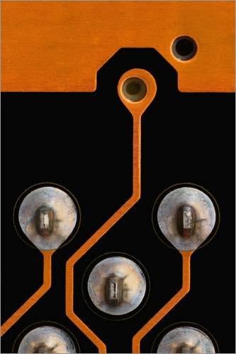 Posterlounge Alubild 40 x 60 cm: Circuit Board tin Kontakte von Antonio Romero/Science Photo Library