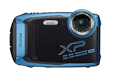 Fujifilm FinePix XP140 Waterproof Digital Camera w/16GB SD Card (Renewed) from FUJIFILM