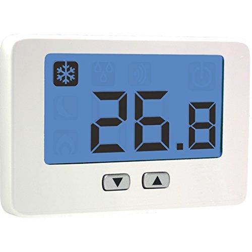 Thalos Key VE718300, Termostato da Parete a Batterie, Bianco