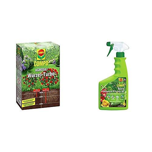 COMPO AGROSIL Wurzel-Turbo, Hochwirksames Bewurzelungshilfsmittel, 0,7 kg & Duaxo Universal Pilz-frei AF, Bekämpfung von Pilzkrankheiten an Zierpflanzen, Gemüse und Kräutern, Anwendungsfertig, 750 ml