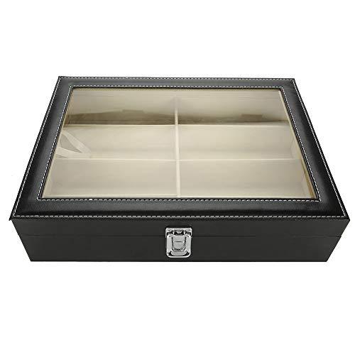 Staubdichte PU-Aufbewahrungsbox aus feuchtigkeitsbeständigem Glas, weiche Aufbewahrungsbox, Brillenetui für den Brillenladen zu Hause