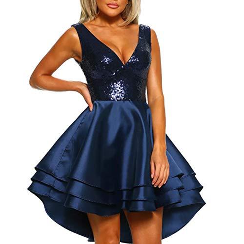 VPASS Vestidos Vestidos para Mujer,Elegante Fiesta Vestidos Vestido de Cóctel Vestido de Noche Vestido de Lentejuelas Vestido Moda Slim Fit Vestidos Corta Sexys Vestidos Hombro