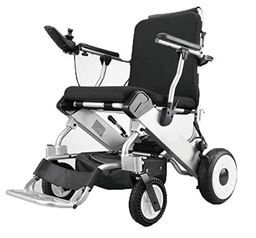 BYCDD Potencia Silla de Ruedas, la aleación de Aluminio Silla de Ruedas Plegable Ligera para sillas de Ruedas Plegable Eléctrica Power Chair para una fácil Transferencia,Black
