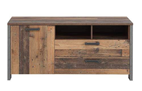 FORTE TV-Lowboard in trendigem Vintage/Industrial Look