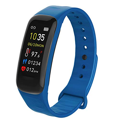 AUBEINSON Fitness Tracker with Oxygen Monitor,Activity Tracker Watch with Body Temperature Blood Pressure Heart Rate Monitor,Smart Watch with Steps Watch,Pedometer Watch for Kids Women Men (A-Blue)