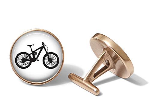 Oakmont Cufflinks Mountain Bike Cufflinks Cycling Cuff Links (Solid Bronze)