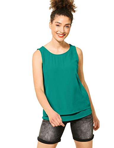 Street One Damen 315023 T-Shirt, Pool Aqua, 34