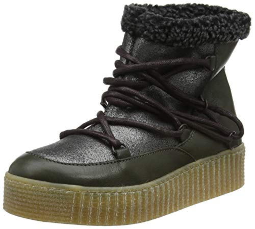 PIECES Damen PSPACCIA Leather Boot Schlupfstiefel, Silber Silver Colour, 41 EU