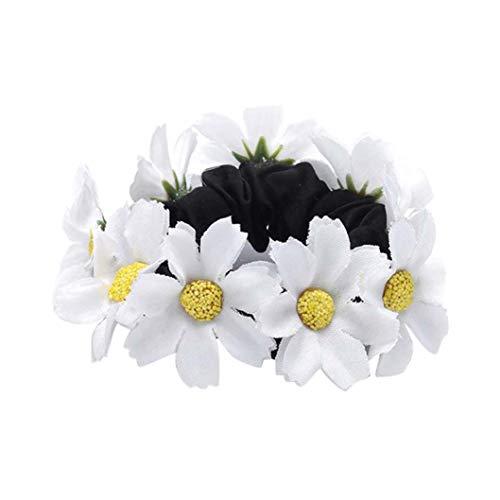 Xmiral Damen Zubehör Stirnband Für Frauen Mode Blumen Haarband Elastische Spandex Tuch Haarband Haar Kreis