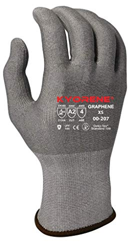 Armor Guys 00-207 (XS) Kyorene Safe, Fine Gauge, Gray Graphene Liner, Antibacterial Glove