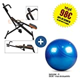FLTBC30B Total Power PRO Body Pump Crunch Home Fitness + Swisse Ball Palla...