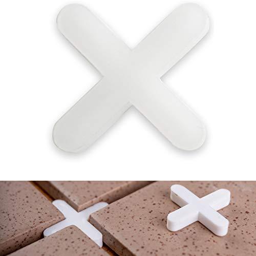 Fliesenkreuze, 2.5 mm stark, 1000x, sorgen für gleichmäßigen Abstand, können verfugt werden, Fugen Kreuz, Fliesenabstandshalter, Fliesen Abstandshalter, Fliesen Kreuz, Kunststoffkreuze, Distanzhalter