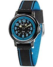 JACQUES FAREL KSB 0453 - Orologio da ragazzo, cinturino in tessuto, colore: Blu/Nero
