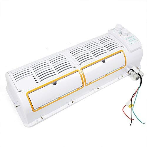 200W 12V Digital Display Car Air Conditioner Fan Wall-mounted For Truck Excavator, Car Bus Caravan Truck USA STOCK