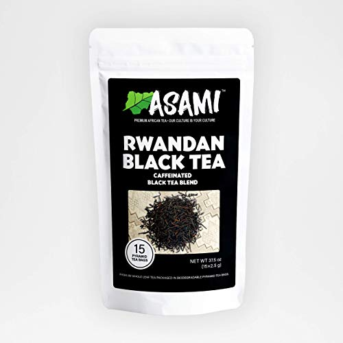 Asami Rwandan Black Tea | Premium African Black Loose Leaf Tea | 100% Natural Gourmet Black Tea | High Caffeine Tea | 100g Loose Leaf Tea | Energy Boosting Breakfast Teas