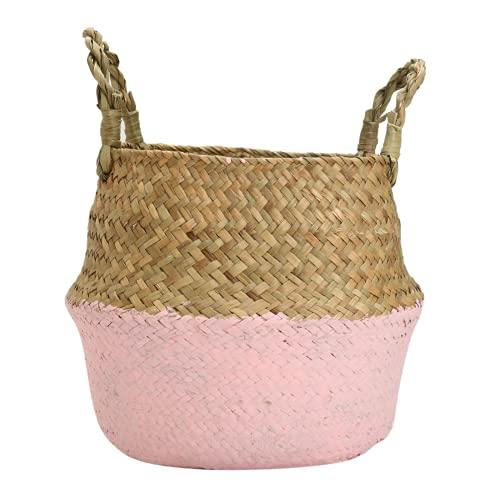 Kuingbhn Cesta de lavandería para el vientre, cesta de almacenamiento de plantas, maceta plegable para la colada de la habitación, maceta decorativa para el baño, juguetes y ropa