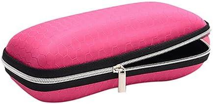 Aland Honeycomb Sunglasses Eye Glasses Case Zipper Bodied Hard Cover Box Holder Pink