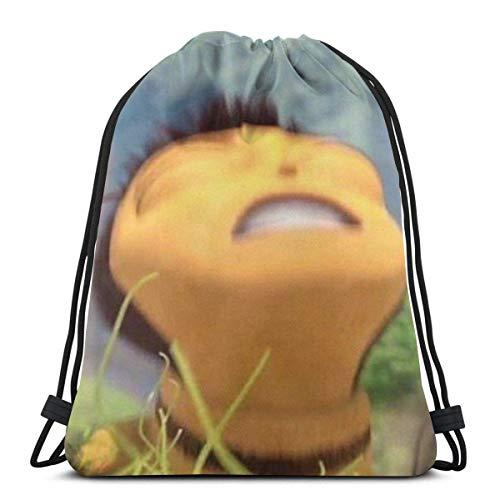 Cinch Bags Honey Nut Cheerios Barry Benson Bee Movie Meme Mujeres Escuela Impresión Universal Casual Deportes Regalo Regalo Mochila de viaje Cincha Bolsas Fitness Bolsa Cumpleaños D