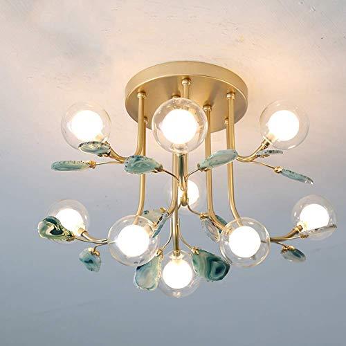 SHENLIJUAN 48x33cm Hierro lámpara del Dormitorio de los niños de Techo Habitación Sala Balcón Spot Bar-Verde