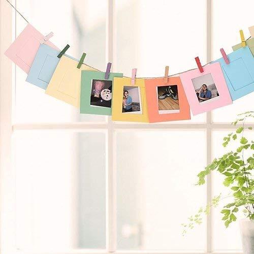 Preisvergleich Produktbild JoyRolly 10 stücke DIY 3 Zoll Papier Bilderrahmen Wanddekor Fotoalbum mit Hängeseil Clip