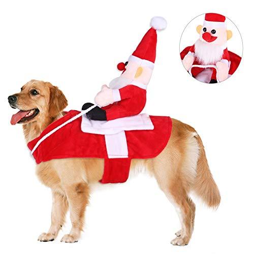 Wanyudz Traje de Navidad para Perro, Traje de Navidad para Correr, Papá...