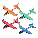 EKKONG Planeur en Mousse, Avion Planeurs Enfant, Avion de Lancer Manuel, Voler Sports de Plein Air pour Enfant (4 Pack)