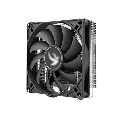 WYH Enfriador de PC de perfil bajo Mini ITX CPU Air Cooler Compacto Multi-compatible CPU Cooler con 4 tubos de calor de contacto directo 90 mm PWM Ventilador silencioso
