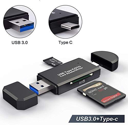 Hoonyer Kartenleser Speicherkartenleser SD/Micro SD und OTG Adapter Micro USB Typ C USB 3.0 mit Standard USB Stecker Micro USB für PC und Notebook-Smartphone-Tablet mit OTG Funktion