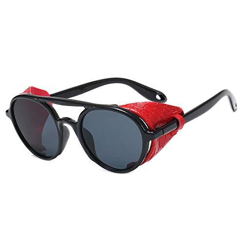 Europa y los Estados Unidos gafas redondas de explosión AliExpress gafas de sol con personalidad steampunk gafas de sol decorativas de doble haz versátiles