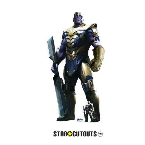 Star Cutouts SC1313 Marvel Thanos Josh Brolin 193 cm hoch Avengers Endgame Lebensgröße Papp-Figur, Mehrfarbig