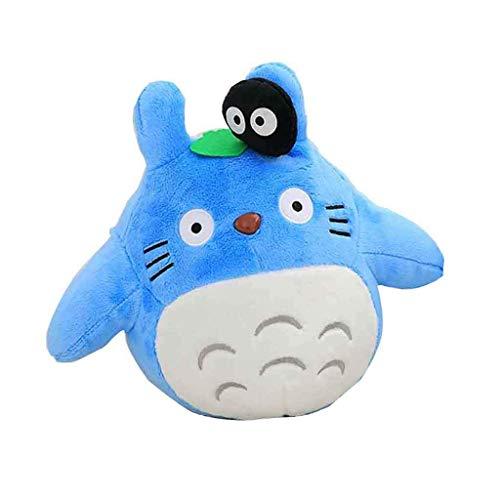 Mein Nachbar Totoro Plüsch Puppe Plüsch Tier Spielzeug Kissen Kissen Dekorativ zum Geburtstag Kind Freundin Geschenk Totoro Flauschige Sitzsäcke, Blau, 20CM