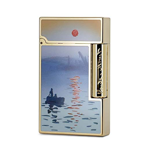 Best Review Of S.T. Dupont Ligne 2 Claude Monet Lighter, Lacquer, Gold, Limited Edition, 016349