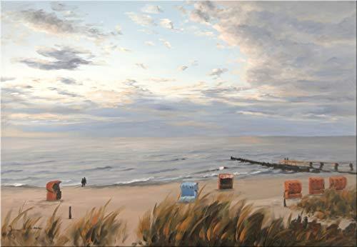 Kunstverlag Christoph Falk Strand mit Strandkörben von Jan Hansen