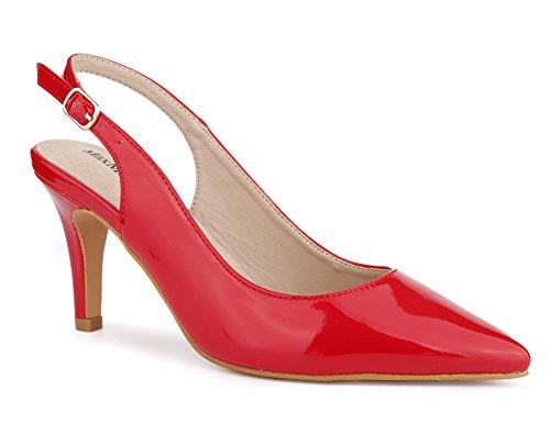 MaxMuxun Zapatos de Tacón Alto de Aguja Mujer