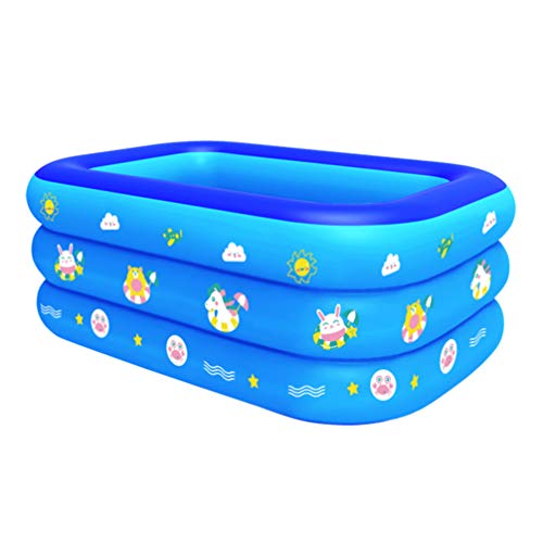 PRETYZOOM Piscina para Niños Piscina para Niños Piscina para Bebés Bañera Inflable Piscina para Niños Al Aire Libre Interior 130 Cm (Azul)