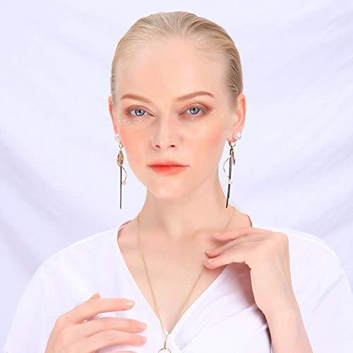 Erin Earring Orecchini A Forma di Graffetta Gesù Cristo Orecchini A Goccia Lunghi in Perle Acriliche Dorate Orecchini Lady Love Spiral Back Fashion Jewellery