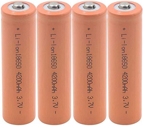 18650 3.7V 4200mAh Baterías de la batería de Litio Recargables para el micrófono del Banco de energía del Faro de la Linterna