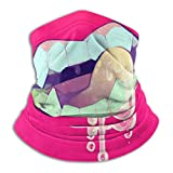 Sick Ahegao Mouth Balaclavas Breathable Microfiber Neck Warmer Windproof Neck Gaiter Face Scarf Mask for Cold Weather Winter Outdoor Activities Dust Wind UV Fleece 25x30 cm Black