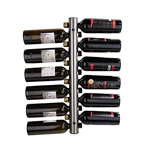 Estante Para Botellas De Vino Montado En La Pared De 8/12 Agujeros De Acero Inoxidable, Organizador De Almacenamiento Estantes Para Vino Con Accesorios Instalación, Hogar, Bar, Restaurante,8 bottles