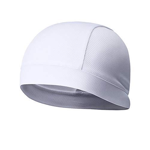 ADSE 2PCS Fast Dry Helm Liner Radkappen unter Motorradhelmen Winddichter Laufhut Sport Feuchtigkeit Dehnbarer Kopfwickel