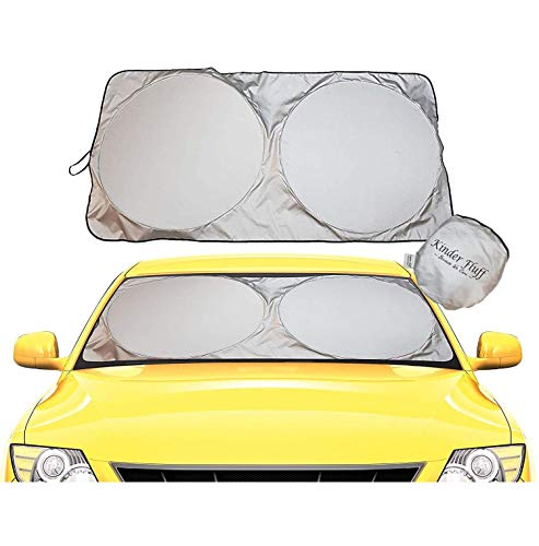 Windshield Sun Shade - 210T Fabric Highest in The Market for Maximum UV and Sun Protection...