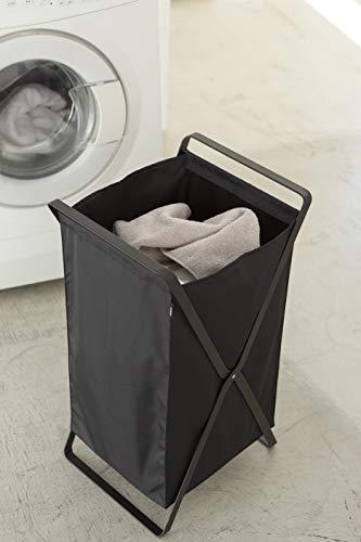 YAMAZAKI home Laundry Basket-Foldable Storage Hamper Organizer, One Size, Black
