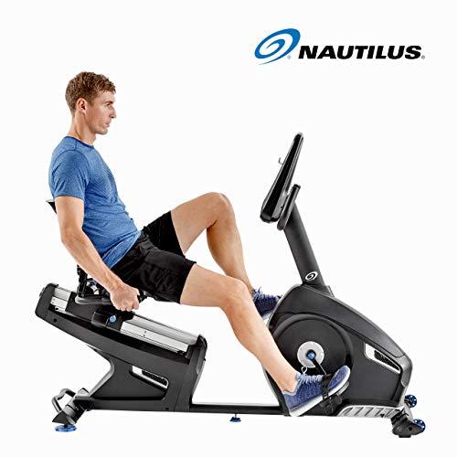 Nautilus R626 - Bicicleta Estática Reclinada, Bluetooth, MP