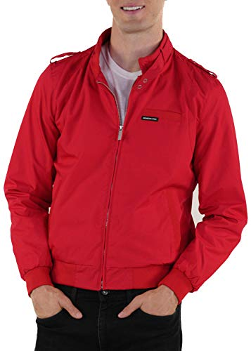 Members Only Men's Original Iconic Racer Jacket, Deep Red, X-Large