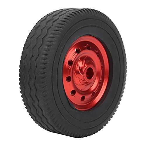 WYDM Neumáticos de Coche de Control Remoto, 4 Piezas de neumáticos de Control Remoto de Rueda RC Accesorios de aleación de Aluminio de Goma para Coche D12