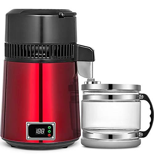 WQY Wasserdestilliermaschine 750W Einstellbare Temperatur Wasserbrenner 4L Weinherstellungsset Brauset Edelstahl-Innenbrenner mit Einstellbarer Temperatur für Küchenhäuser