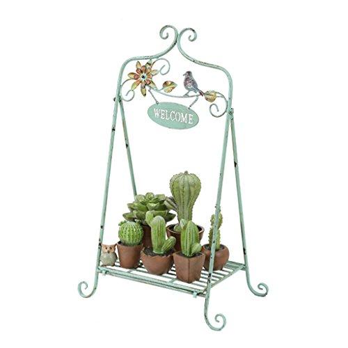 Ali@ Country américain Vintage en Fer forgé Fleur décorative Stand Balcon décoration de Jardin en Plein air