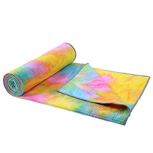 HDDFG Alfombrilla de Yoga Antideslizante Toalla de Microfibra Antideslizante Estera de Yoga Ejercicio Adelgazante Mantas de Gimnasia Fitness (Color : 3)